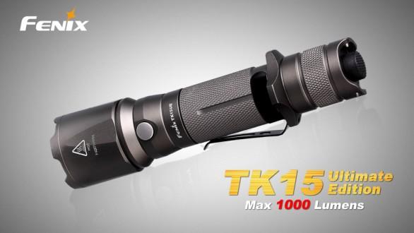 Taktická LED svítilna Fenix TK15 Ultimate Edition - šedá