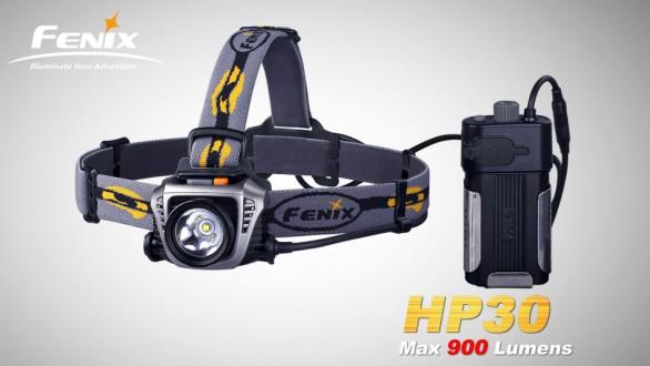 LED čelovka Fenix HP30 - šedo černá