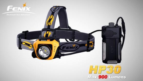 LED čelovka Fenix HP30 - černo žlutá