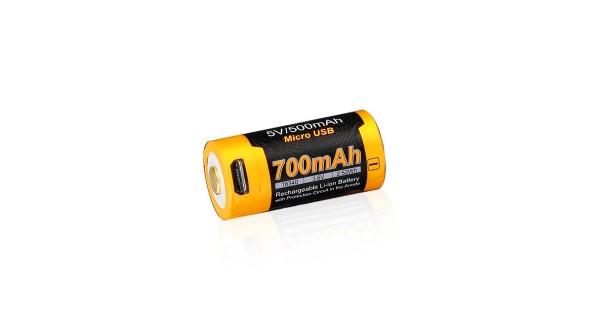 Dobíjecí USB baterie Fenix RCR123A / 16340 (Li-Ion)
