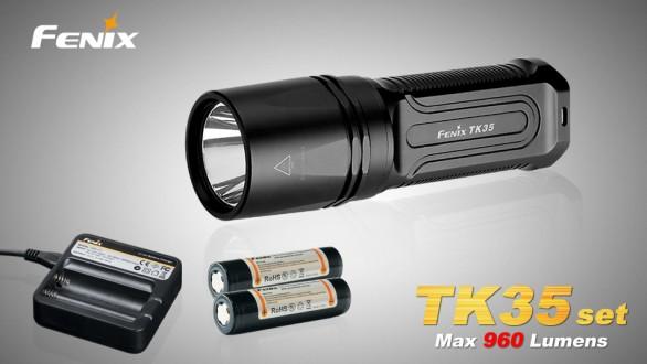 Fenix TK35 XM-L2 (960 lumenů) + nabíjecí sada
