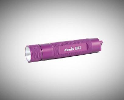 Baterka Fenix E01 - fialová