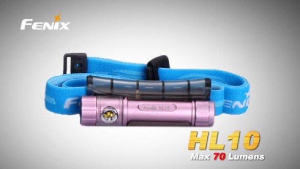 Čelovka Fenix HL10 - světle fialová