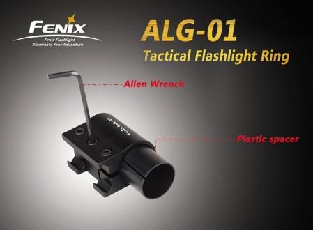 Kovová montáž svítilny na zbraňovou lištu Fenix ALG-01