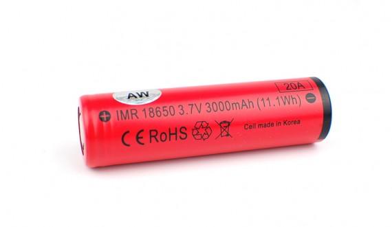 Dobíjecí baterie AW IMR 18650 3000 mAh (vysokoproudová Li-Ion)