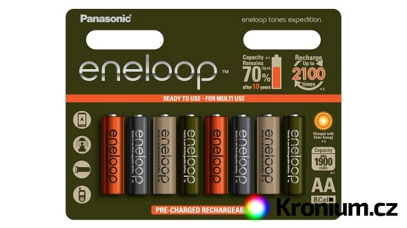Panasonic Eneloop Expedition AA NiMH 8ks