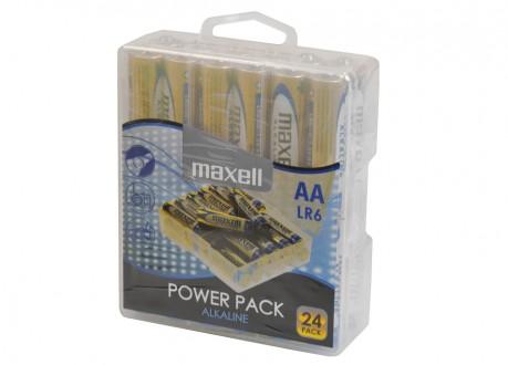 Tužková AA alkalická baterie Maxell 24ks