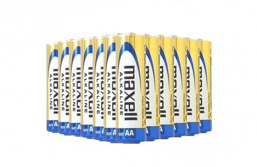 Tužková AA alkalická baterie Maxell 12ks