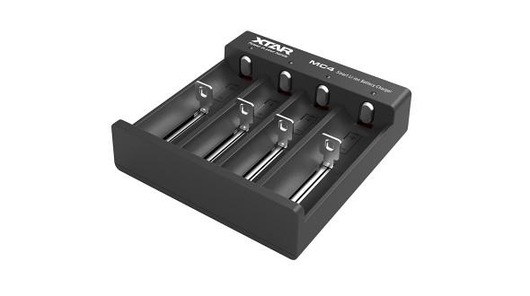 Čtyřkanálová USB nabíječka MC4 pro Li-Ion akumulátory