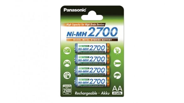 Panasonic 2700 mAh nabíjecí baterie AA NiMH 4ks