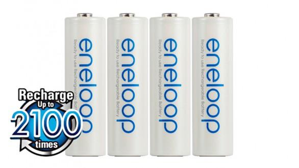 Panasonic Eneloop AA NiMH 4ks 2100 cyklů