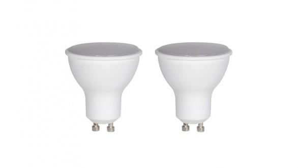 Bodová LED žárovka Retlux 350 lumenů, 5W, teplá bílá - GU10, 2ks