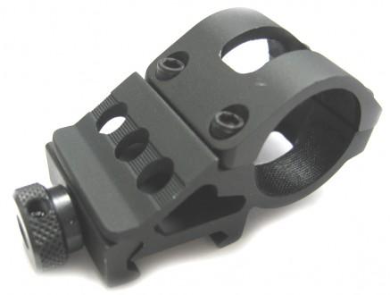 Stranová montáž svítilny na zbraňovou lištu