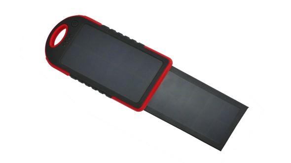 Coelsol Bank SPB5d Solární power banka 5000mAH s duálním solárním panelem - červená