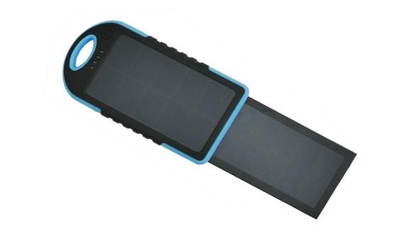 Coelsol Bank SPB5d Solární power banka 5000mAH s duálním solárním panelem - modrá