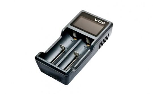 Dvoukanálová USB nabíječka VC2 s LCD (Li-Ion)