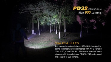 LED svítilna Fenix PD32 XP-L